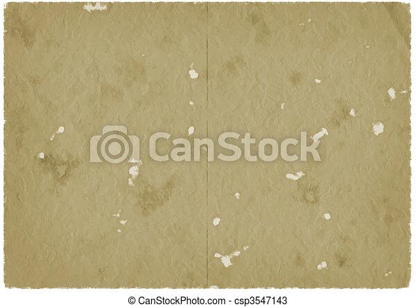 papier brun, vieux, parchemin - csp3547143
