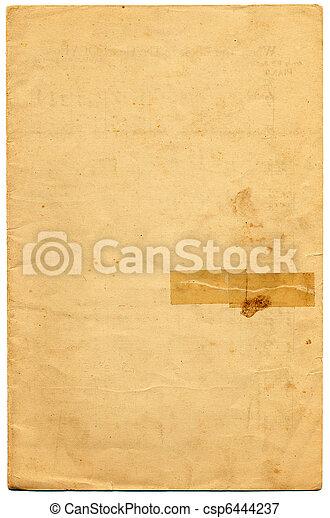 papier, cassette, oud - csp6444237