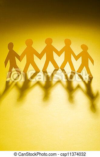 papier, concept, gens, teamworking - csp11374032