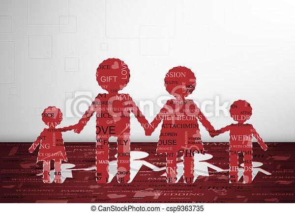 papier, famille - csp9363735