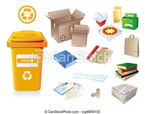 papier, gaspillage, déchets - csp6845102