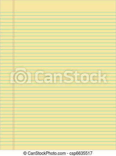papier, gele, lined - csp6635517