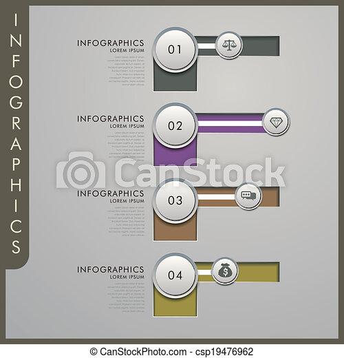 papier, infographic, communie, 3d - csp19476962