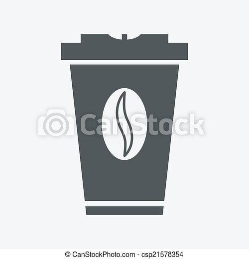 papier, koffie, gespetter, takeaway, kop - csp21578354