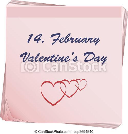 papier listowy, valentine - csp8694540