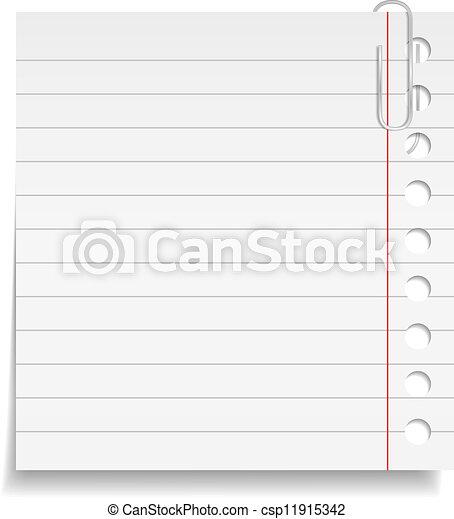 papier listowy, zacisk - csp11915342