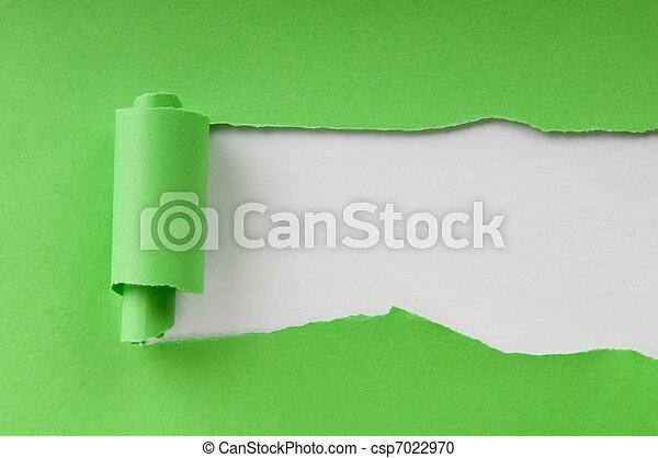 papier, message, morceaux, ton, espace - csp7022970