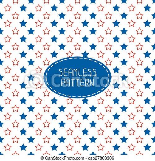 papier, nautique, bleu, symbols., usa, arrière-plan., flag., seamless, july., scrapbook., géométrique, tiling., emballage, illustration, 4ème, blanc, rouges, étoilé, paper., stars., américain, vecteur, modèle, patriotique - csp27803306