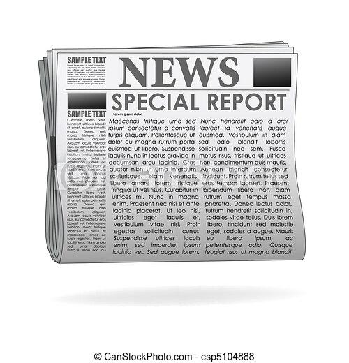 papier nouvelles, rapport, spécial - csp5104888