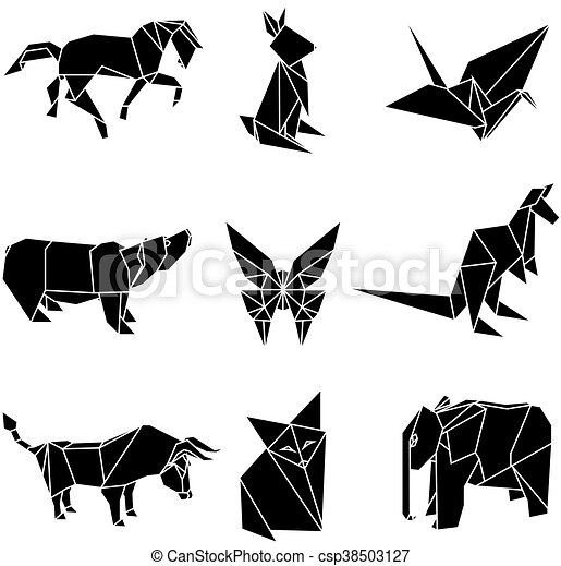 papier origami vecteur animaux illustration vecteur animaux illustration papier origami. Black Bedroom Furniture Sets. Home Design Ideas
