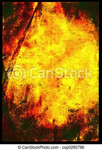 papier, oud, kwaad, textuur - csp0280796