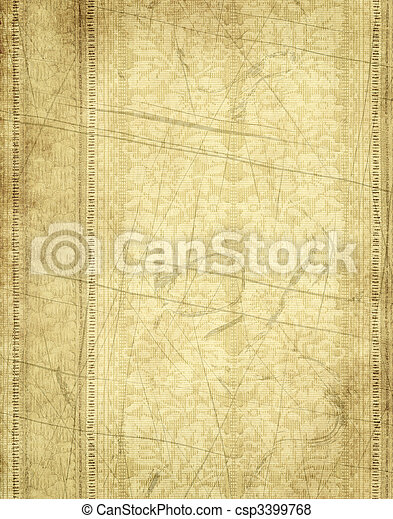 papier, oud, of, perkament - csp3399768