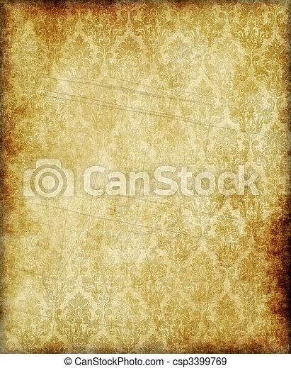 papier, oud, of, perkament - csp3399769