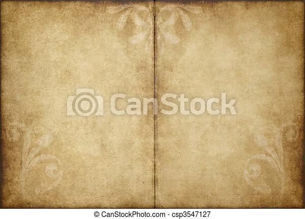papier, oud, perkament - csp3547127