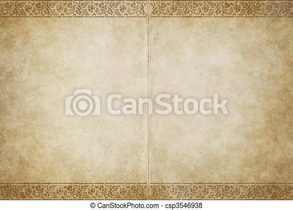 papier, oud, perkament - csp3546938