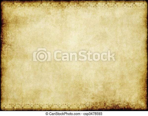 papier, oud, perkament - csp3478593