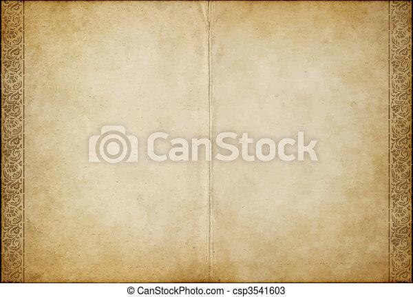 papier, oud, perkament - csp3541603