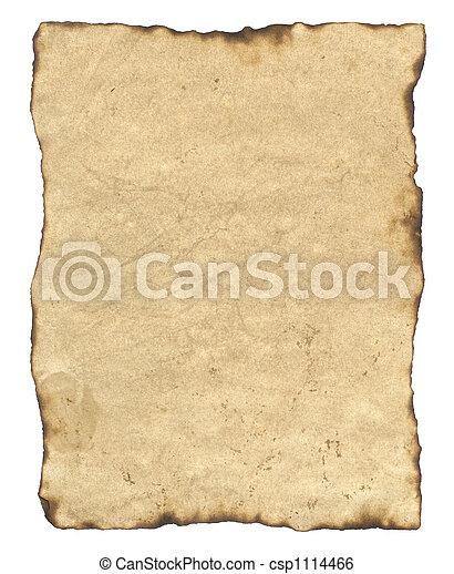 papier, oud, perkament - csp1114466