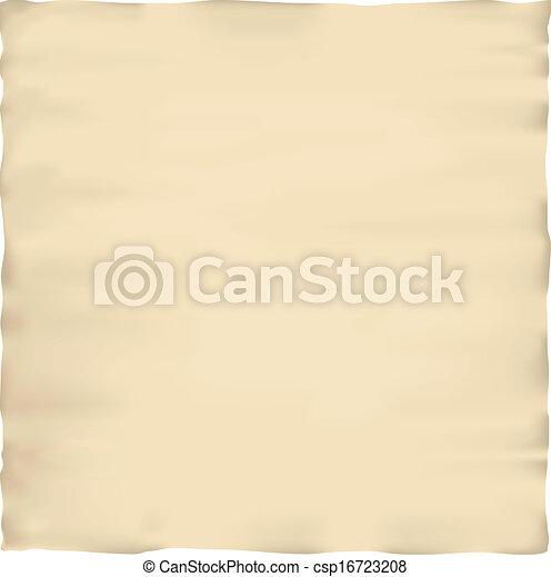 papier, oud, perkament, textuur - csp16723208