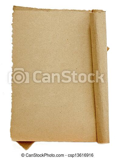 papier, oud - csp13616916