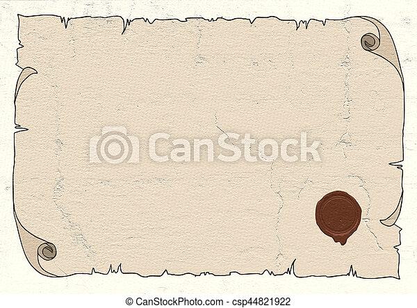 papier, oud - csp44821922