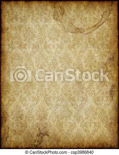 papier, oud - csp3986840