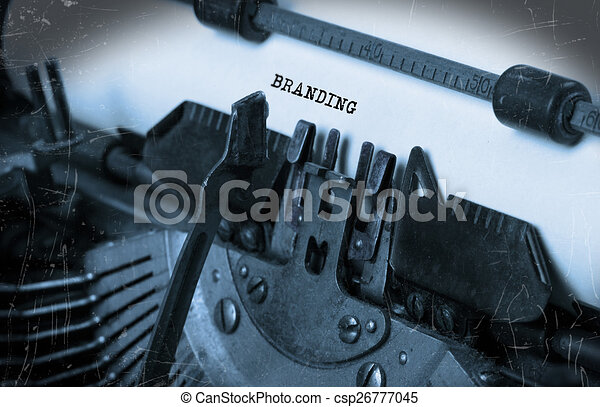 papier, oud, typemachine - csp26777045