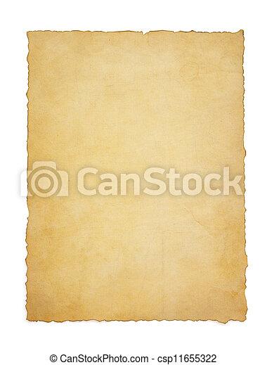 papier, ouderwetse , perkament, witte  - csp11655322