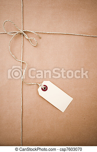 papier, paquet, brun - csp7603070