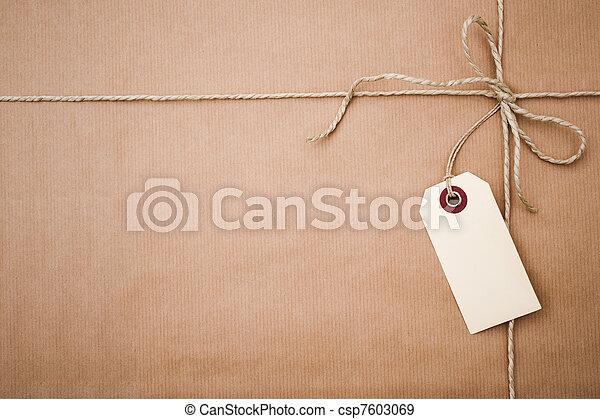 papier, paquet, brun - csp7603069