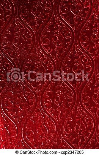 papier peint, décoré, brillant, rouges - csp2347205