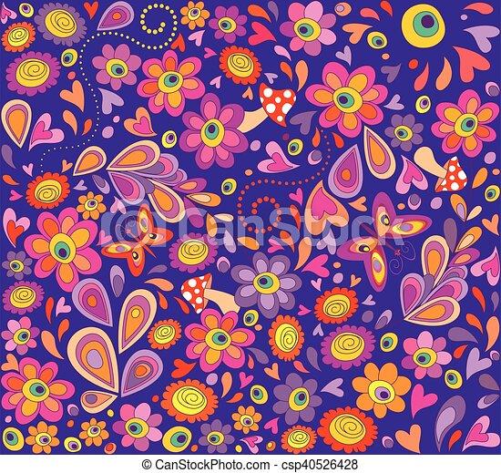 papier peint hippie violet rigolote papier peint. Black Bedroom Furniture Sets. Home Design Ideas