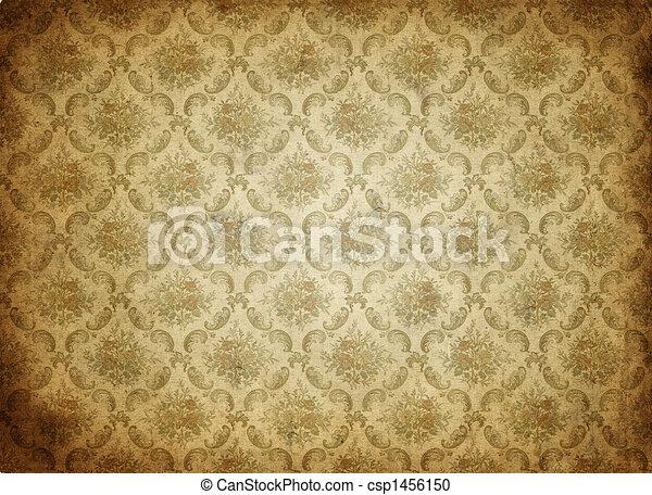 papier peint, vieux, fond - csp1456150
