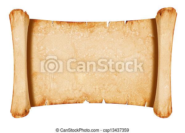 papier, pergament - csp13437359