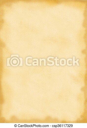 papier, pergament - csp36117329