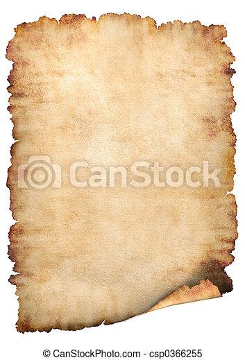 papier, perkament, achtergrond - csp0366255