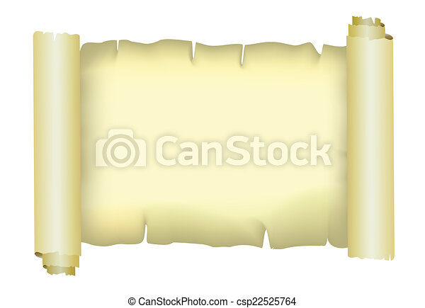 papier, perkament, vector, oud - csp22525764