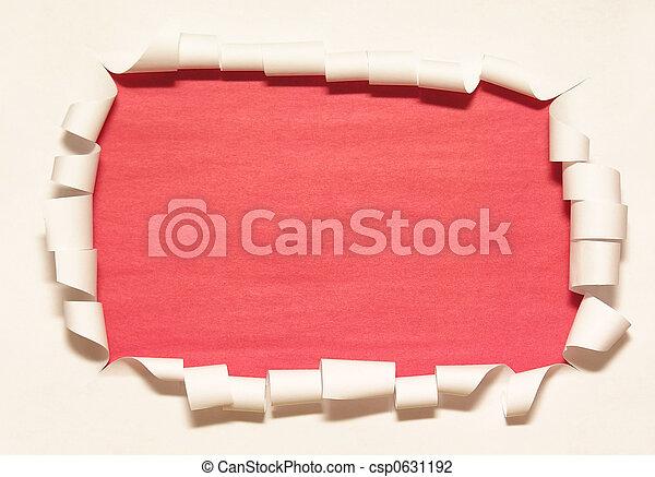 papier, rahmen, 2 - csp0631192