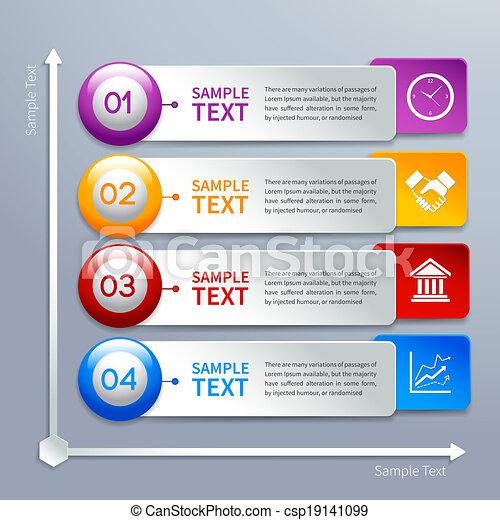 papier, schablone, infographics - csp19141099
