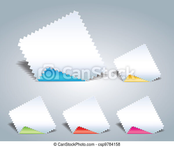 papier, serrated - csp9784158