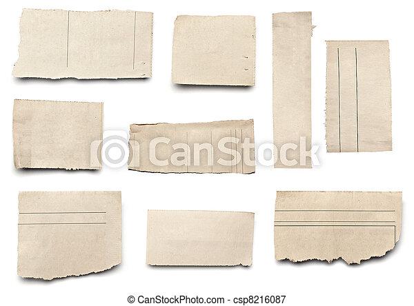 papier, tło, nowość, biały, rozerwał, wiadomość - csp8216087