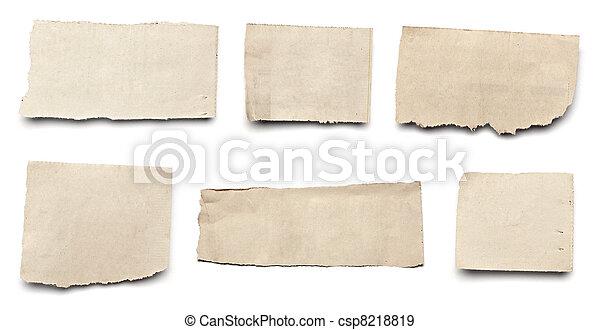 papier, tło, nowość, biały, rozerwał, wiadomość - csp8218819