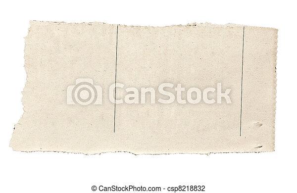 papier, tło, nowość, biały, rozerwał, wiadomość - csp8218832