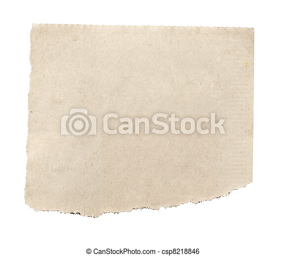 papier, tło, nowość, biały, rozerwał, wiadomość - csp8218846