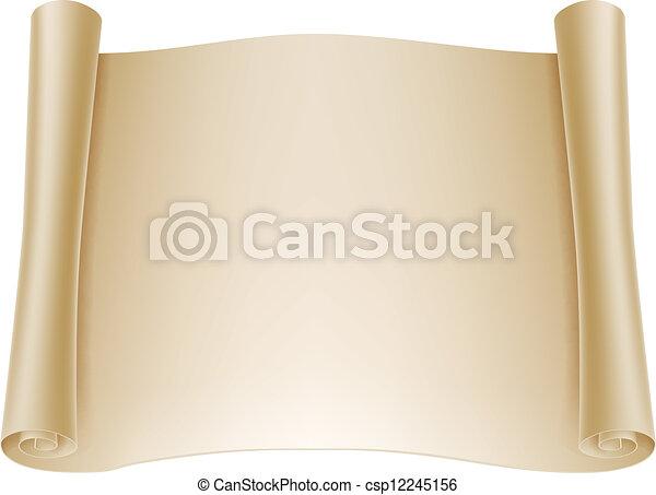 papier, tło, woluta - csp12245156