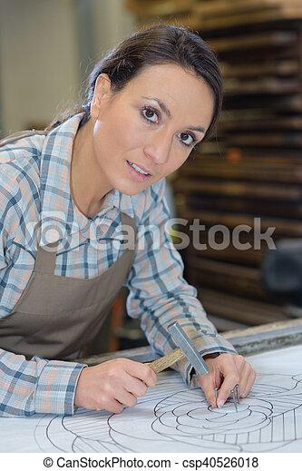 papier, vastleggen, kunstenaar - csp40526018