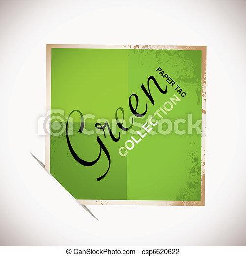 papier, vert, étiquette - csp6620622