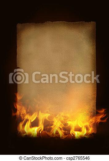 papier, vieux, brûlé - csp2765546