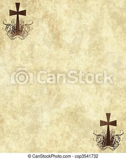 papier, vieux, ou, parchemin - csp3541732