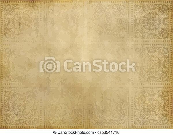 papier, vieux, ou, parchemin - csp3541718